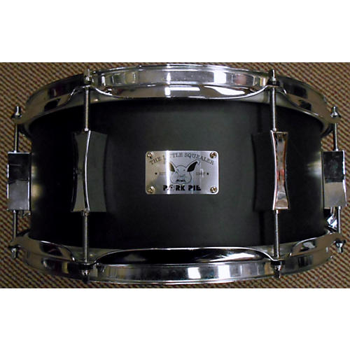 Pork Pie 6.5X14 Little Squealer Snare Black Wrinkle Drum