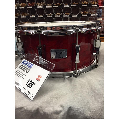 Pork Pie 6.5X14 PP6.5X14LSBC High Gloss Lacquer Red Stain Drum