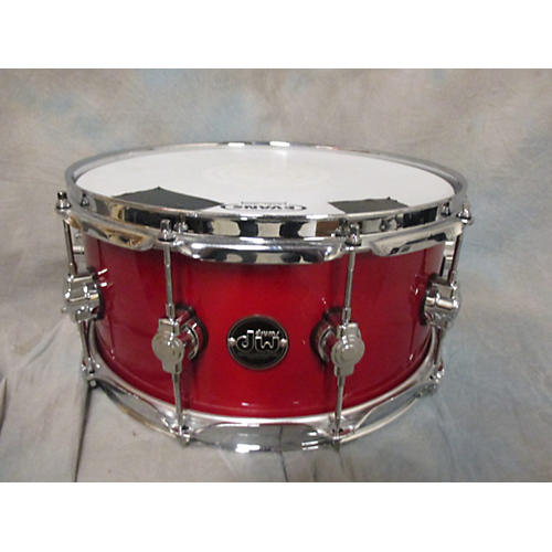 DW 6.5X14 Performance Series Snare Candy Apple Red Drum-thumbnail