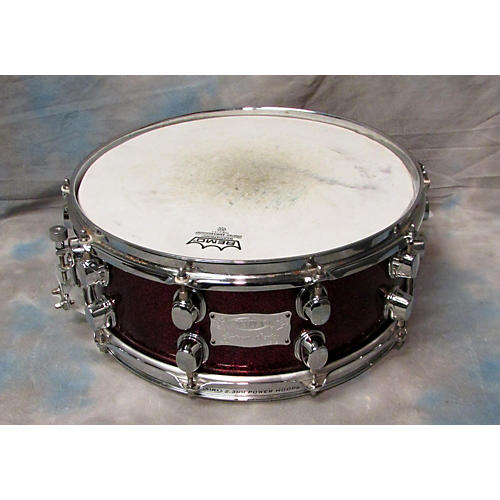 Mapex 6.5X14 Saturn Snare Red Sparkle Drum-thumbnail