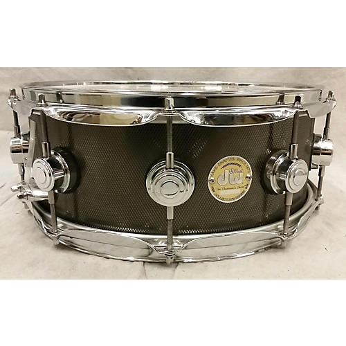 DW 6.5X14 Steel Collector's Series Drum Knurled Black Nickel 15