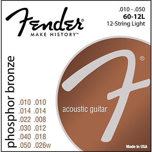 Fender 60-12L Phosphor Bronze 12-String Acoustic Strings - Light