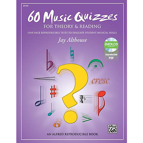 Alfred 60 Music Quizzes for Theory and Reading Book & Data CD-thumbnail