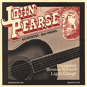 John Pearse 600L Bronze Acoustic Guitar Strings by John Pearse