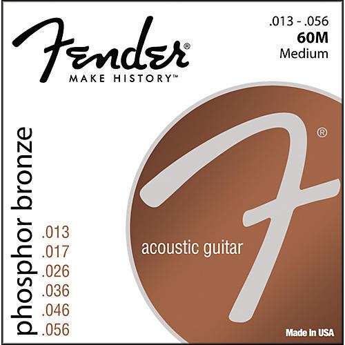 Fender 60M Phosphor Bronze Acoustic Strings - Medium