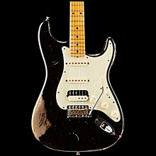 Fender Custom Shop '60s Imperial Arc Stratocaster Maple Fingerboard HSS Masterbuilt by Dale Wilson Black over Shoreline Gold