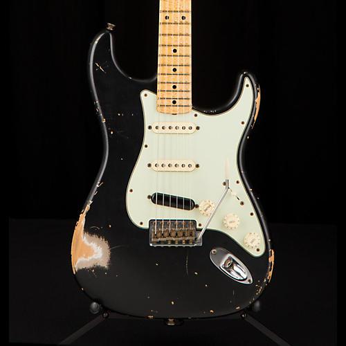 Fender Custom Shop '60s Imperial Arc Stratocaster Maple Fingerboard SSS Masterbuilt by Paul Waller Black over Shoreline Gold
