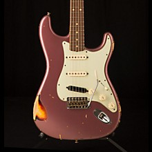 Fender Custom Shop '60s Imperial Arc Stratocaster Rosewood Fingerboard SSS Masterbuilt by Paul Waller Electric Guitar Burgundy Mist Metallic over 3-Color Sunburst