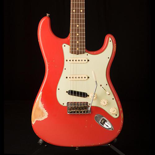 Fender Custom Shop '60s Imperial Arc Stratocaster Rosewood Fingerboard SSS Masterbuilt by Paul Waller Electric Guitar Fiesta Red over Desert Sand