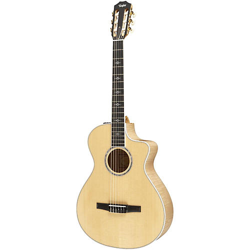 Taylor 612ce-N Maple/Spruce Nylon String Grand Concert Acoustic-Electric Guitar