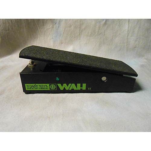 Ernie Ball 6185 Wah BLACK AND GREEN Effect Pedal-thumbnail