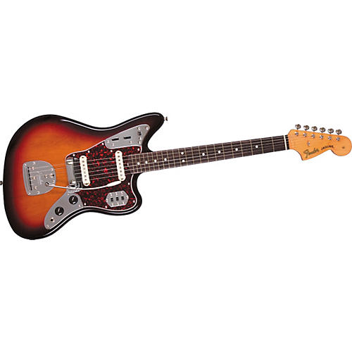 Fender '62 Jaguar Electric Guitar 3-Color Sunburst Brown Shell Pickguard