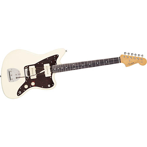 Fender '62 Jazzmaster Electric Guitar Olympic White Brown Shell Pickguard
