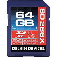 Delkin 64GB SDXC 266X UHS-I (U1) Memory Card