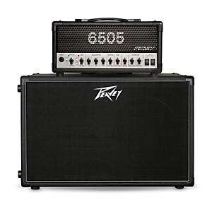 Peavey 6505 MH Micro 20 Watt Tube Guitar Amp Head with 212-6 50 Watt 2x12 Cabinet