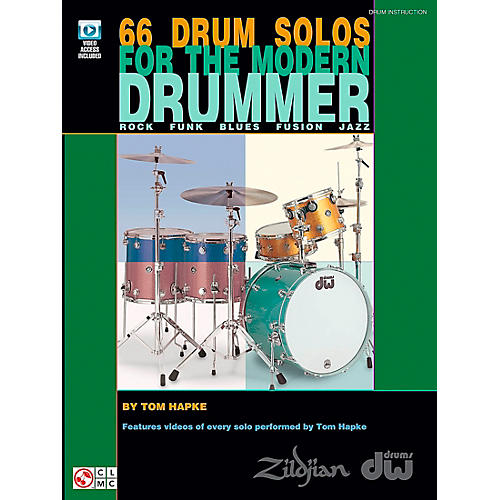Cherry Lane 66 Drum Solos For The Modern Drummer (Book/DVD)-thumbnail
