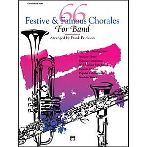 Alfred 66 Festive and Famous Chorales for Band Percussion Snare Drum Bass D...