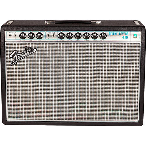 Fender '68 Custom Deluxe Reverb 22W 1x12 Tube Guitar Combo Amp with Celestion G12V-70 Speaker-thumbnail