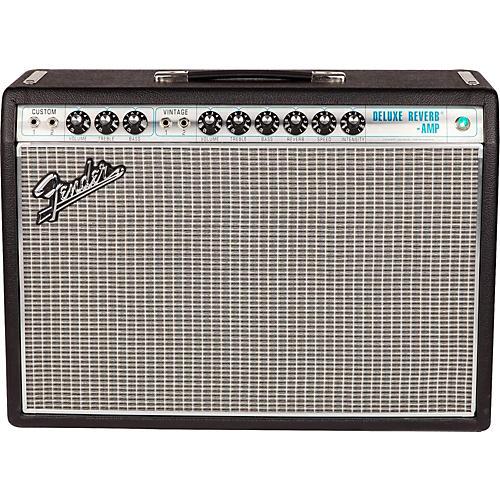 Fender '68 Custom Deluxe Reverb 22W 1x12 Tube Guitar Combo Amp with Celestion G12V-70 Speaker-thumbnail