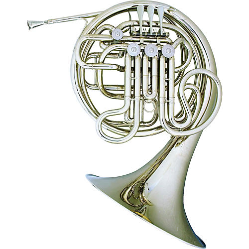 Hans Hoyer 6801NSA-L Nickel Silver Heritage Double Horn-thumbnail
