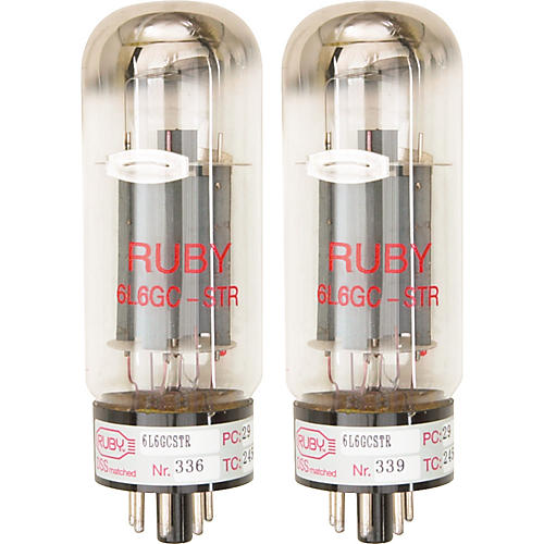 Ruby 6L6GCMSTR Matched Amp Tubes-thumbnail