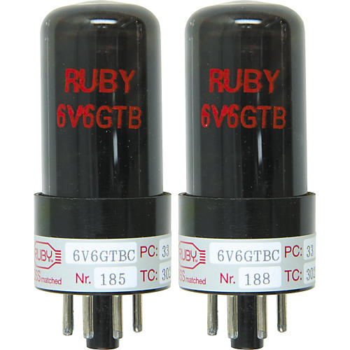 Ruby 6V6 Matched Amp Tubes  Duet