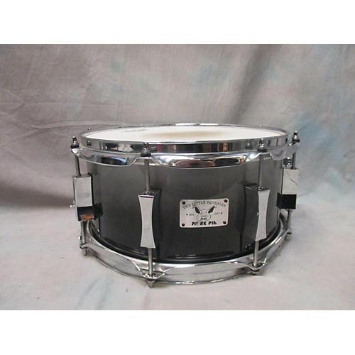 Pork Pie 6X12 Little Squealer Snare Drum Black and Silver 90