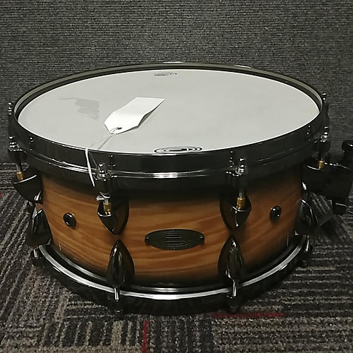 Orange County Drum & Percussion 6X14 Natural Blackburst Ash Drum