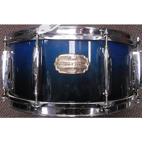 Pearl 6X14 Session Custom Drum Blue to Black Fade 13