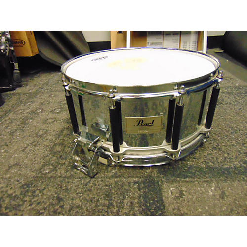 Pearl 6X14 Steel Freefloating Snare Drum Chrome 13
