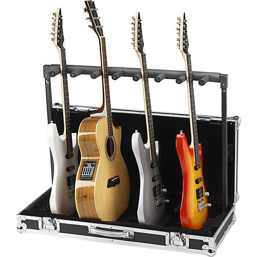 Road Runner 7 Guitar Stand Flightcase Black