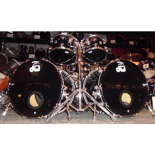 DW 7 Piece COLLECTORS MAPLE VLT Drum Kit BLACK WITH PURPLE SPARLKE 68