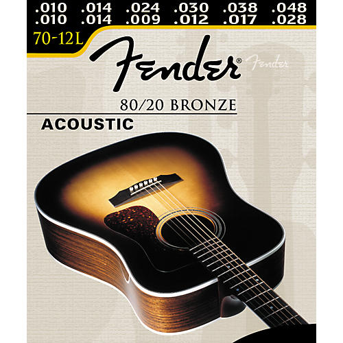 fender 70 12l 12 string 80 20 bronze ball end acoustic guitar strings guitar center. Black Bedroom Furniture Sets. Home Design Ideas