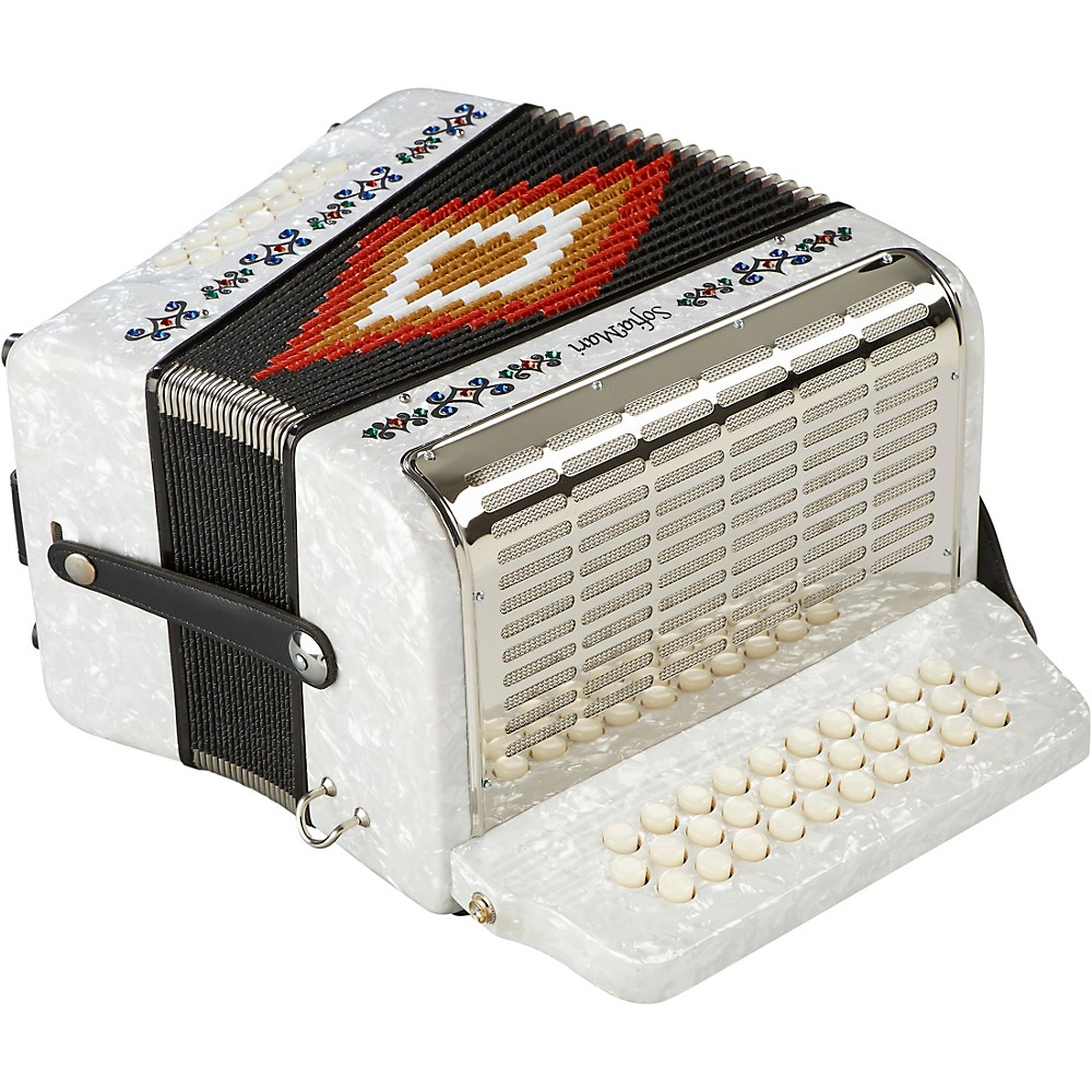 Sofiamari Sm-3112 31-Button 12 Bass Accordion Gcf White Pearl