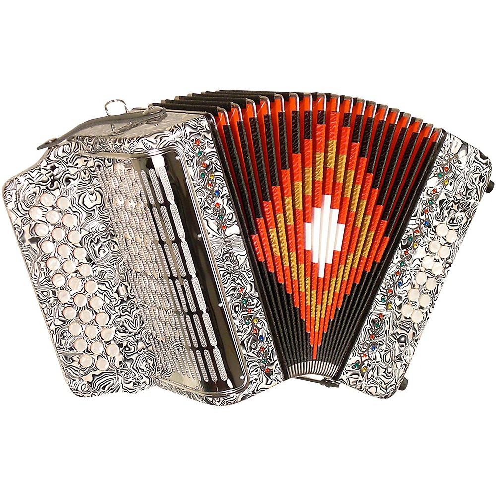 Sofiamari Sm-3112 31-Button 12 Bass Accordion Gcf Zebra