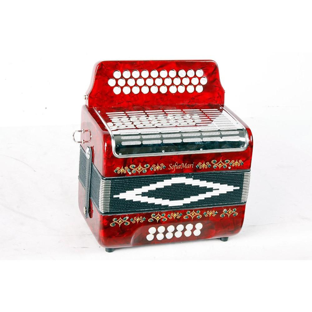 Sofiamari Sm-3112 31-Button 12 Bass Accordion Gcf Red Pearl 888365238753