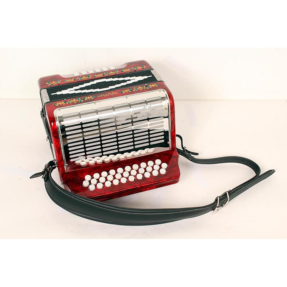 Sofiamari Sm-3112 31-Button 12 Bass Accordion Gcf Red Pearl 888365338675
