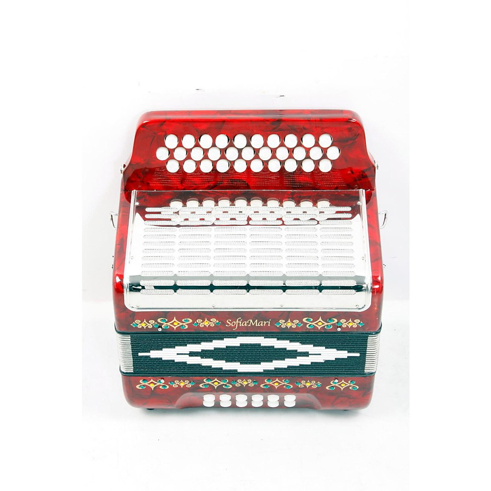 Sofiamari Sm-3112 31-Button 12 Bass Accordion Gcf Red Pearl 888365327457