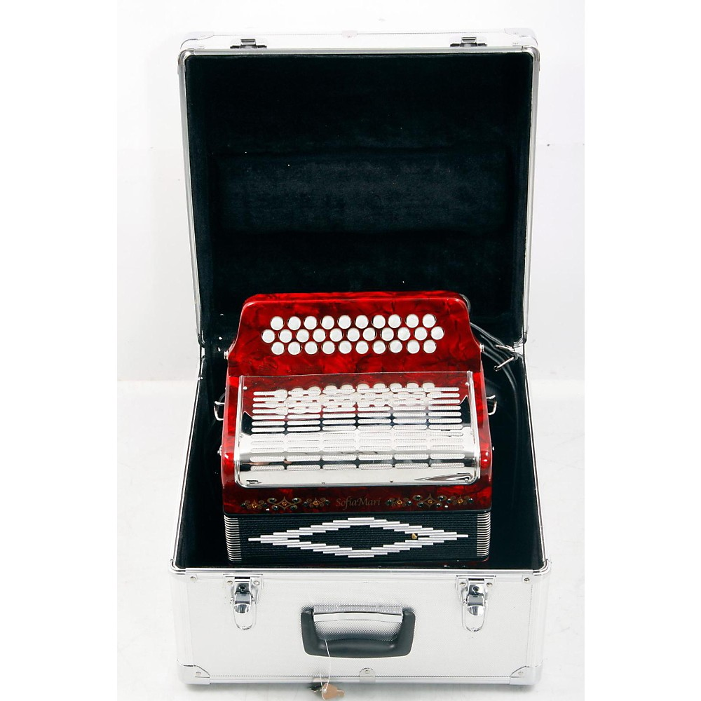 Sofiamari Sm-3112 31-Button 12 Bass Accordion Gcf Red Pearl 888365483368