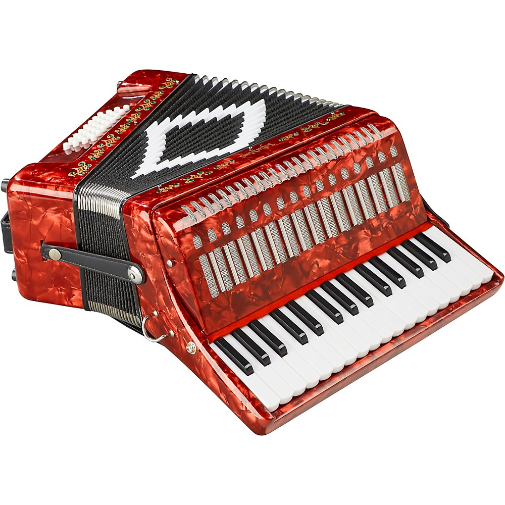 Sofiamari Sm-3232 32 Piano 32 Bass Accordion Red Pearl