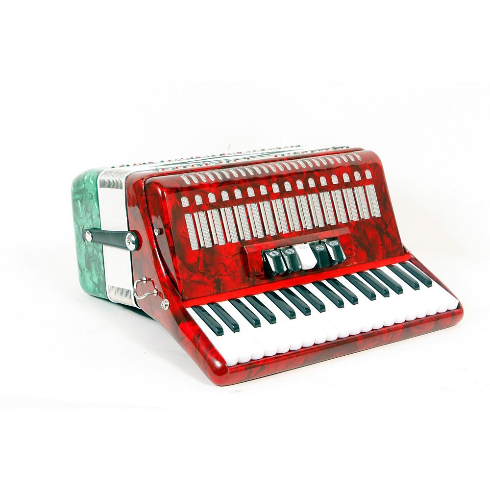 Sofiamari Sm-3448 34 Piano 48-Bass Accordion Red And Green Pearl 888365483863