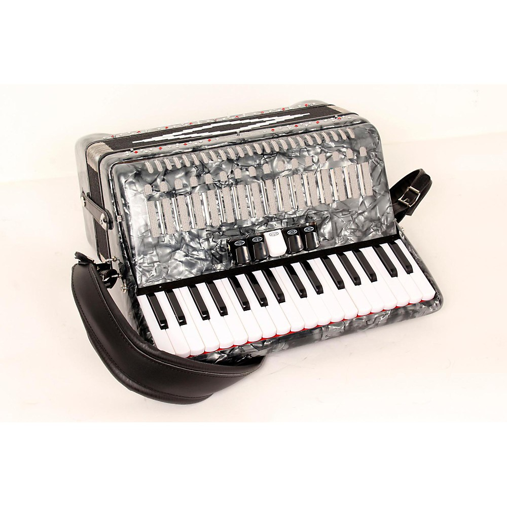 Sofiamari Sm-3448 34 Piano 48-Bass Accordion Gray Pearl 888365326955
