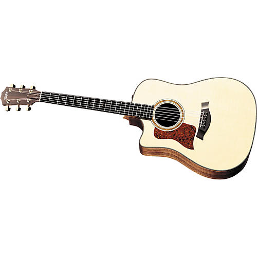 Taylor 710-CE Left-Handed Dreadnought Cutaway Acoustic-Electric Guitar (2010 Model)-thumbnail