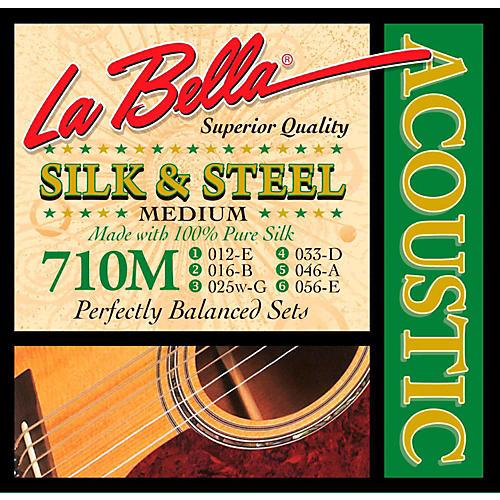 LaBella 710M Silk & Steel Medium Acoustic Guitar Strings-thumbnail