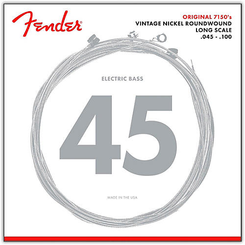Fender 7150ML Pure Nickel Long Scale Bass Strings - Medium Light