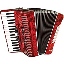 Hohner 72 Bass Entry Level Piano Accordion Level 1 Red