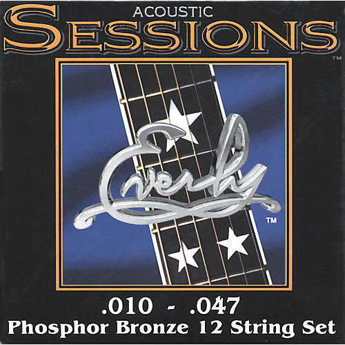 Everly 7210-12XL Acoustic Sessions Phosphor/Bronze Extra Light 12-String Guitar Strings-thumbnail
