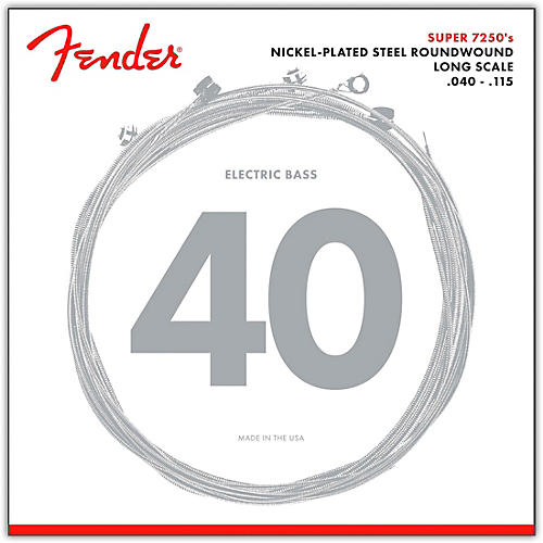 Fender 7250-5L Super Bass Nickel-Plated Steel Long Scale 5-String Bass Strings - Light-thumbnail