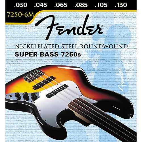 Fender 7250-6M Super Bass 6-String Medium Strings-thumbnail