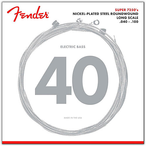 Fender 7250L Super Bass Nickel-Plated Steel Long Scale Bass Strings - Light